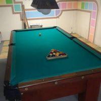 Pool Table Entertainment Set With Table, Light, Balls, Sticks!
