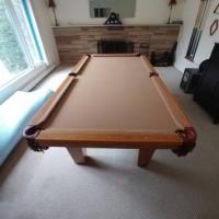 8FT Wood Pool Table