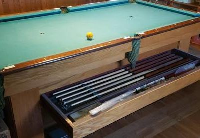 Vintage Brunswick Baby Grand Pool Table