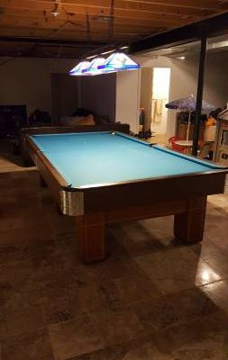 1908 Brunswick snooker table