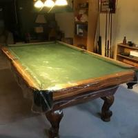 7' Cherry-Wood Pool Table
